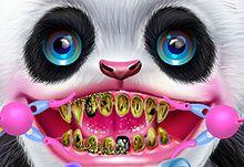 Cute Panda Dentist Care